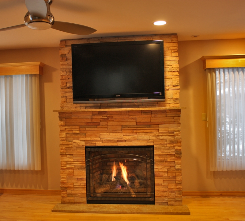Fireplace Near Kitchen: Download How To Build A Stone Fireplace Mantel And