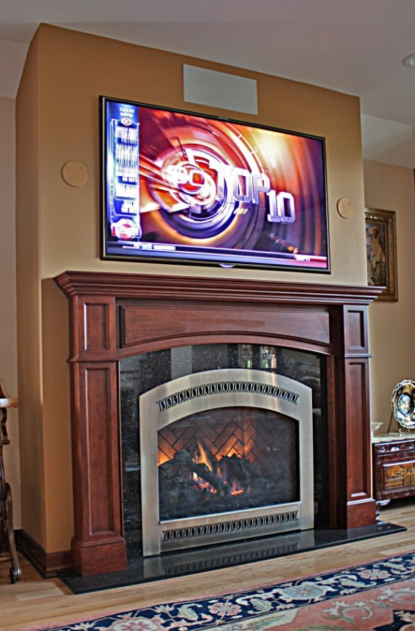 cultured stone fireplace | NYC Fireplaces & Outdoor Kitchens